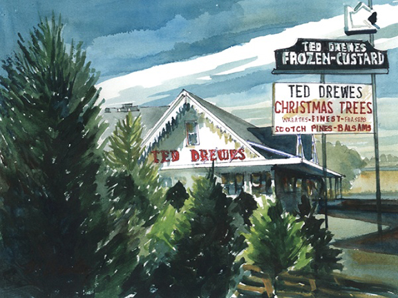Inside St. Louis - Ted Drewes Christmas Trees & Frozen Custard